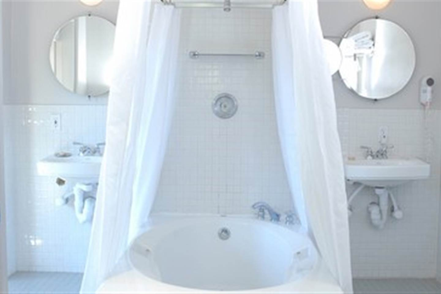 A Garden Tub with Shower