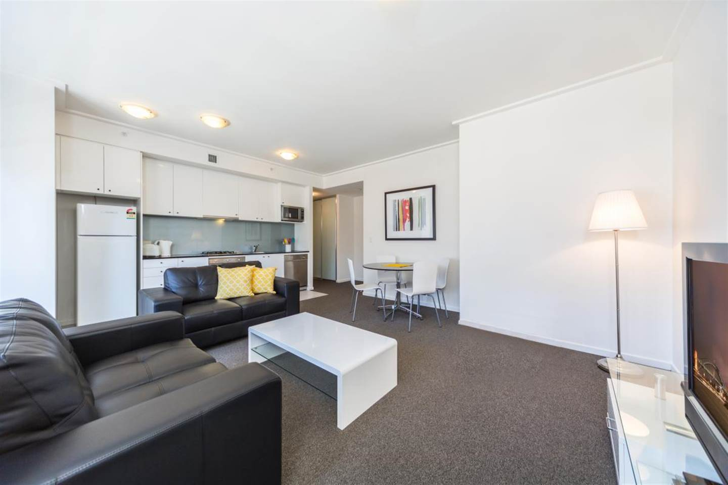 This One Bedroom Apartment features Modern Amenities for a Great Stay