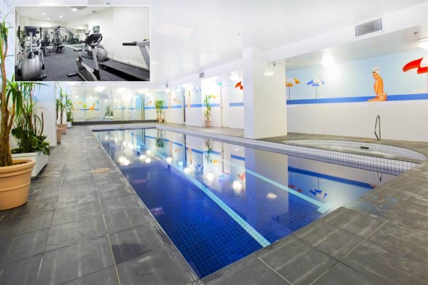 Two Bedroom Apartment Features An Indoor Pool
