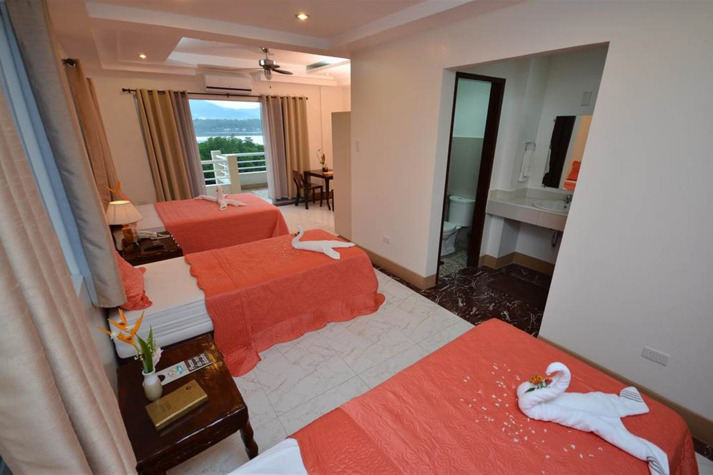 Spacious Family Ocean View Room